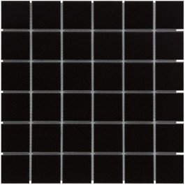 Mozaiektegel Barcelona Black Matt Porcelain 309x309