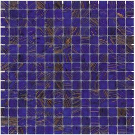 Mozaiektegel Amsterdam Medium Blue Golden Vein Glass 322x322