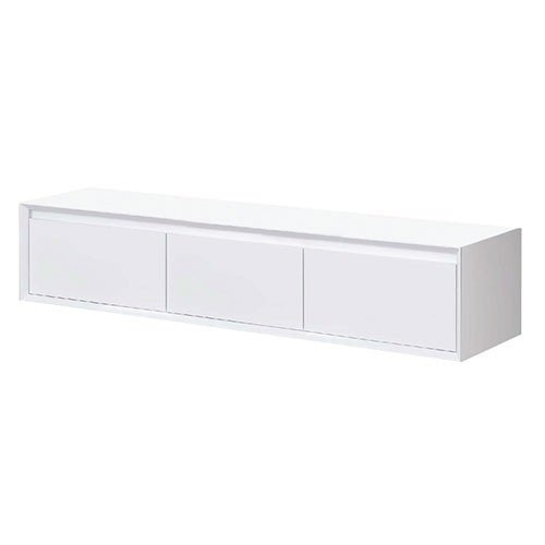 Ladekast Horizon Hangend 120x40x40cm MDF Mat Wit Softclose Greeploos