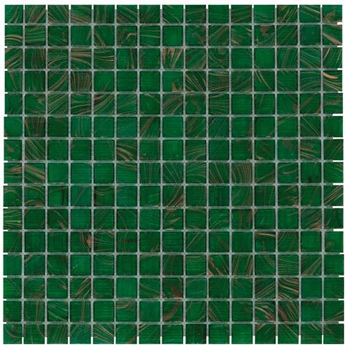 Mozaiektegel Amsterdam Medium Green Golden Vein Glass 322x322