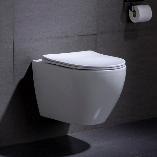 Wandcloset - Hangend Toilet Beauti Flatline - Inbouwtoilet Rimfree WC Pot
