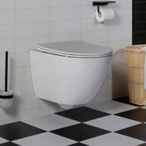Wandcloset - Hangend toilet Shorty Flatline - Inbouwtoilet WC Pot