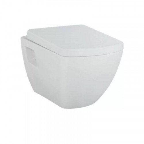 Toiletpot Hangend Creavit Square Wit met Toiletbril Rimfree