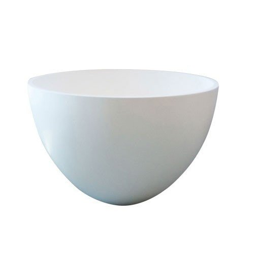 Waskom Opbouw Eco Rond 48x48x30cm Solid Surface Glans Wit