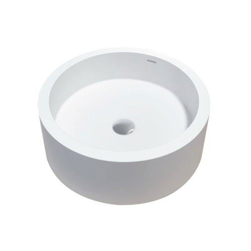 Waskom Opbouw Compo Rond 46x46x16,5cm Solid Surface Mat Wit