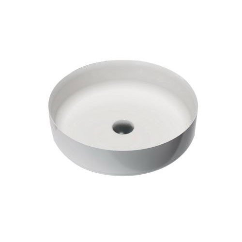 Waskom Opbouw Lastic Rond 45x45x13cm Solid Surface Mat Wit