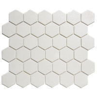 Mozaiektegel London 28.1x32.5cm Hexagon Porselein Mat Super Wit 1