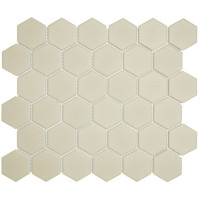 Mozaiektegel London 28.1x32.5cm Hexagon Porselein Mat Wit 1