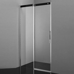 Douchedeur Diamond Slide 160cm Links 8mm Veiligheidsglas Softclose Antikalk Chroom