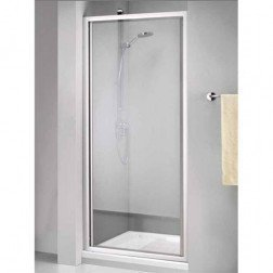Douchedeur Sealskin Get Wet 110 Swingdeur 90x190cm Mat Zilver Chinchilla Glas