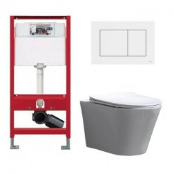 Tece Toiletset - Inbouw WC Hangtoilet wandcloset - Saturna Flatline Tece Now Wit