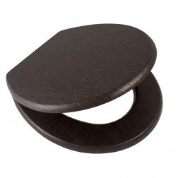 Toiletbril AWD Softclose Toiletzitting 43.4x37.3cm MDF Wenge