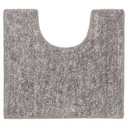 Toiletmat Antislip Sealskin Speckles Polyester/Micro Fibre Taupe 45x50cm