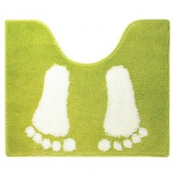 Toiletmat Antislip Sealskin Amy Acryl Lime 50x60cm