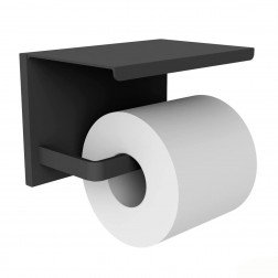 Toiletrolhouder Allibert Loft-Game Hangend Mat Zwart