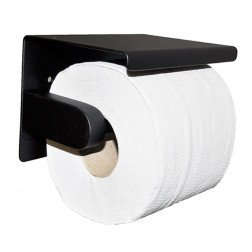Toiletrolhouder Wiesbaden Brush Mat Zwart