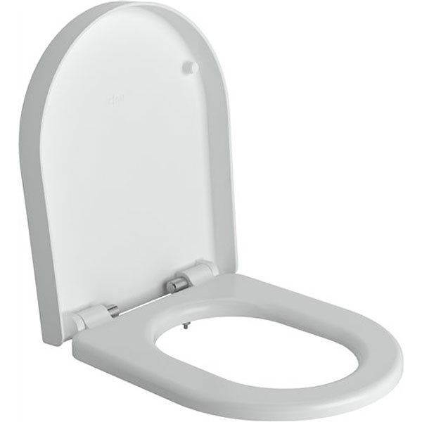 Clou First toiletzitting met deksel soft-closing en quick release systeem verkorte versie wit