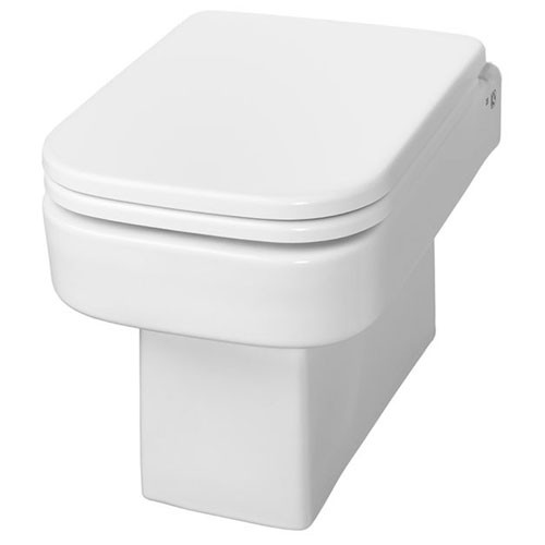 Toiletpot Hangend Boss 52×34,5×38,5cm Wandcloset Keramiek Diepspoel Nano Coating EasyClean Glans Wit met Softclose Toiletbril